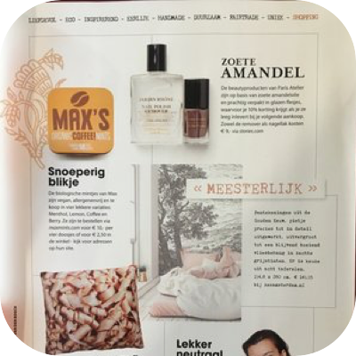 Artikel Max's Mints in de Happinez
