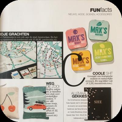 Artikel Max's Mints in de Linda.meiden